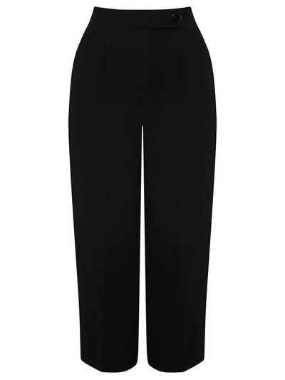 Tailored black culottes