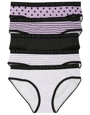 Spot and stripe pattern briefs five pack