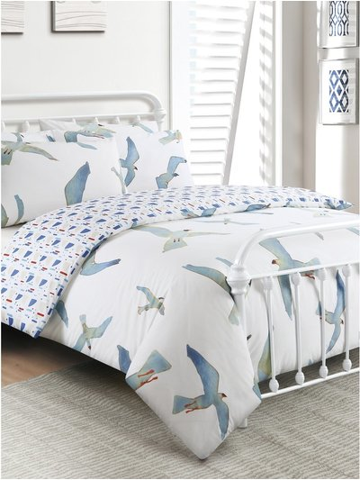 Bird print duvet set