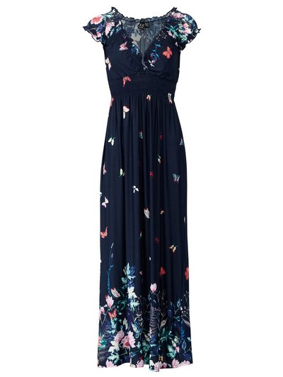 Izabel floral shirred waist dress