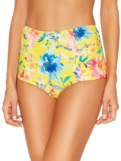 Sunshine floral high waist control bikini bottoms
