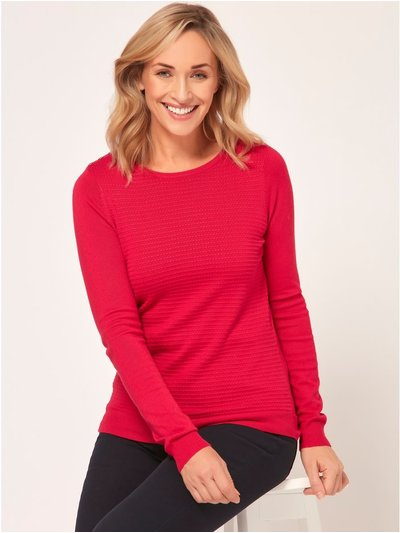 Spirit textured button trim jumper