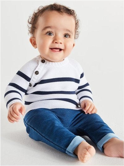 Breton striped jumper (Newborn-18mths)