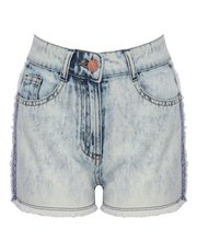 Teens' frayed denim shorts