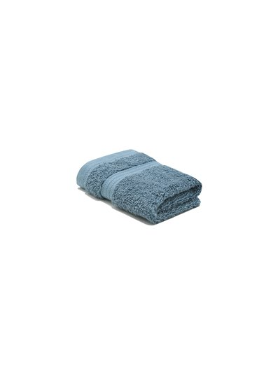Mid blue combed cotton facecloth
