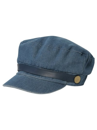 Denim baker boy hat