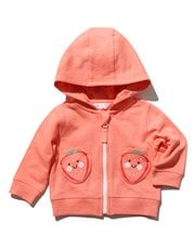 Strawberry pocket hooded sweater