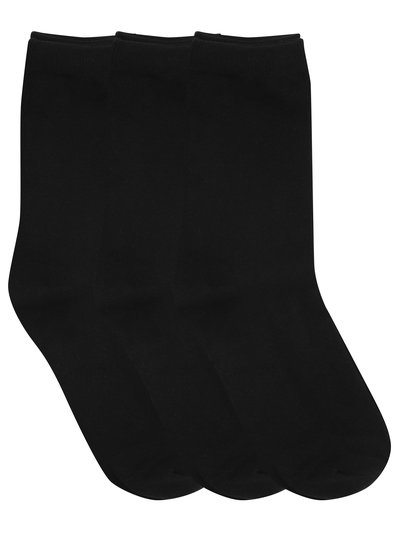 Black ankle socks three pack