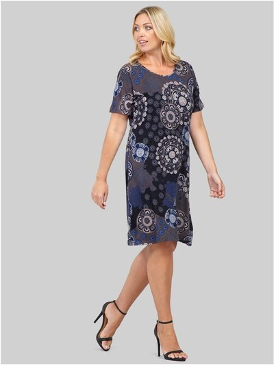 Izabel Curve mosaic print shift dress