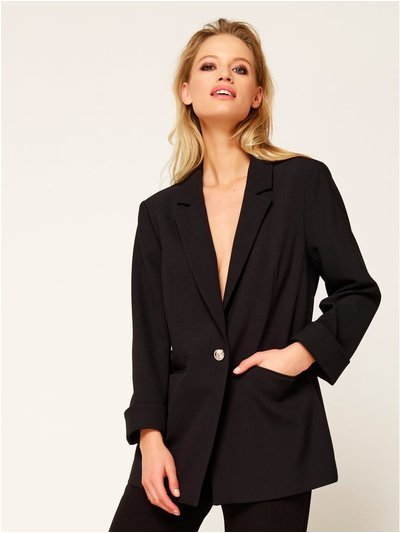Single breasted blazer jacket