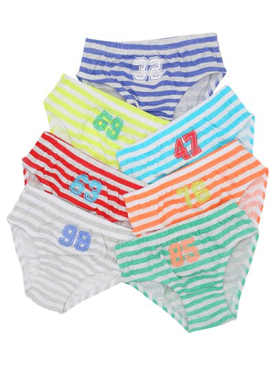Striped briefs seven pack (2 - 10 yrs)