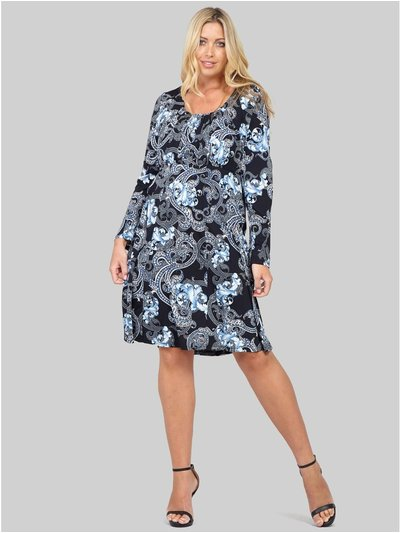 Izabel Curve wallpaper print tunic dress