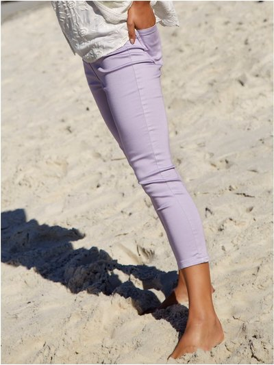 Cropped fly front jeggings