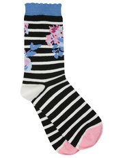 Floral stripe socks