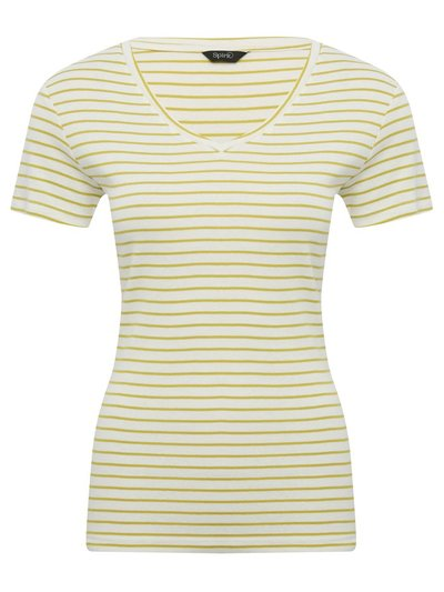 Spirit striped v-neck top