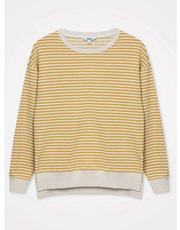 Khost Clothing Stripe Split Hem Sweatshirt