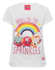 Shopkins character t-shirt and stickers