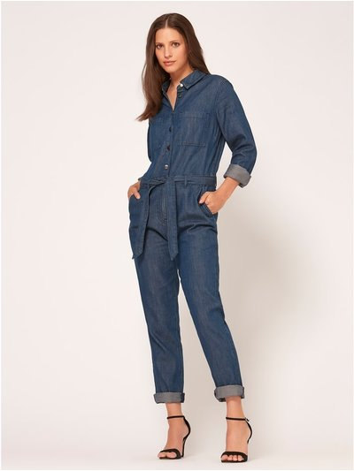 Denim boilersuit