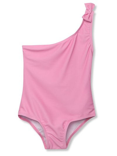Pink one shoulder swimsuit (3-12yrs)