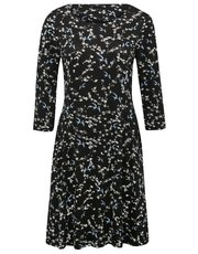 Petite ditsy bird print dress