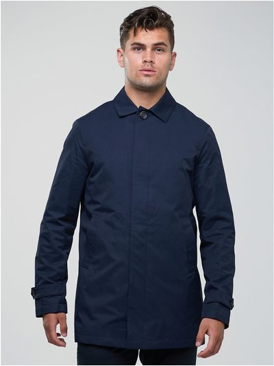 Single breasted navy mac