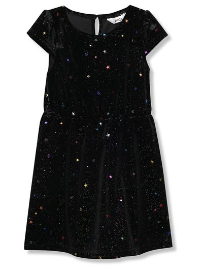 Glitter star velour dress (9 mths - 5 yrs)