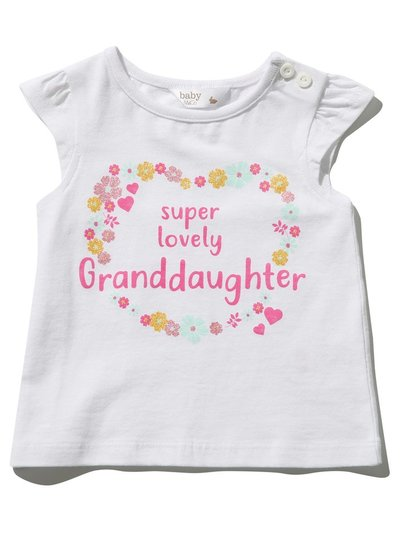 Super lovely granddaughter slogan t-shirt