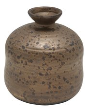 Bronze colour porcelain vase