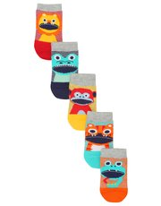 Stripe animal socks five pack