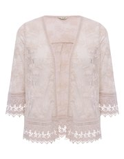 Floral mesh embroidered jacket