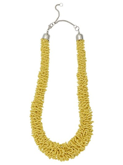 Muse yellow mini bead necklace