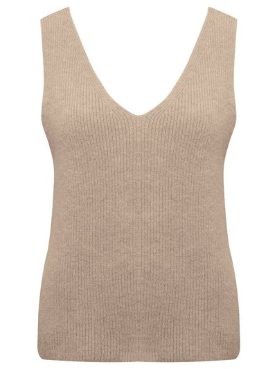 Sleeveless v neck jumper