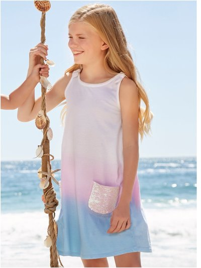 Two way sequin pocket dress (3-12yrs)
