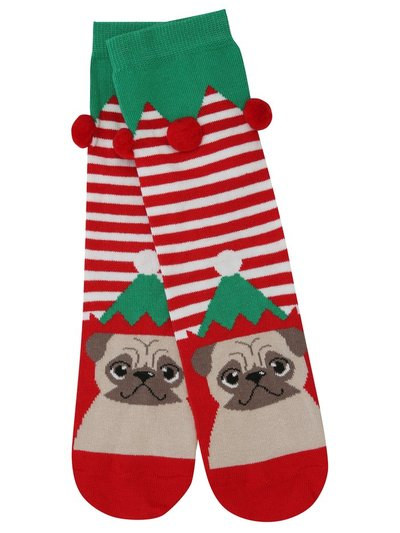 Pug Christmas socks