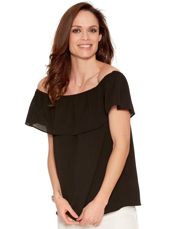 be4941af17bf Frill Layer Bardot Top