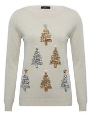 Sequin embellished Christmas tree jumper
