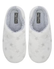 Star print mule slippers