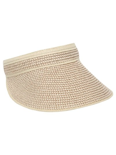 Lurex braid visor