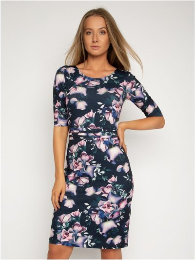 StylistPick floral jersey pleat dress