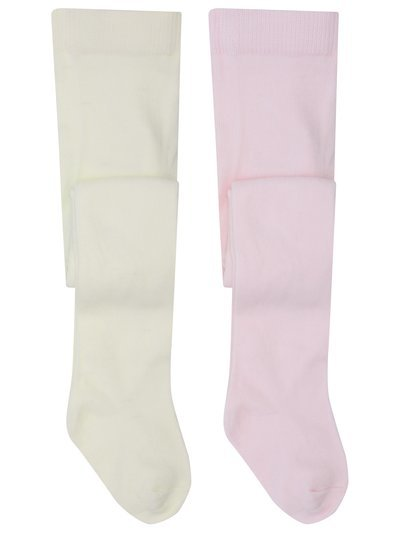 Pink and cream tights two pack