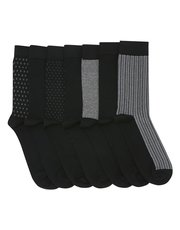 Patterned socks seven pack