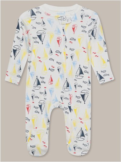 Boat print sleepsuit (Tiny baby-18mths)