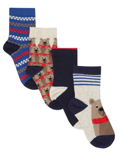 Bear socks four pack