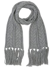 Grey shimmer knitted scarf