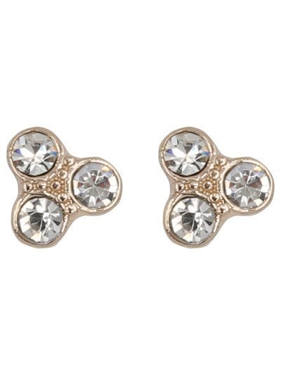 Triple diamante stud earrings