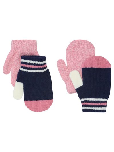 Striped mittens two pack