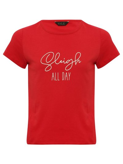 Teen sleigh all day Christmas t-shirt