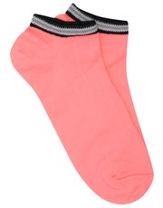 Black stripe trim trainer socks