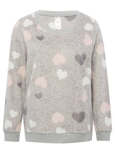 Heart fleece lounge top
