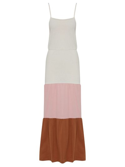 JDY colour block tiered maxi dress